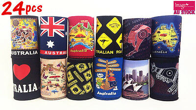 24x Australian Souvenirs Stubby Holder Can Holder Cooler Mix Design Color