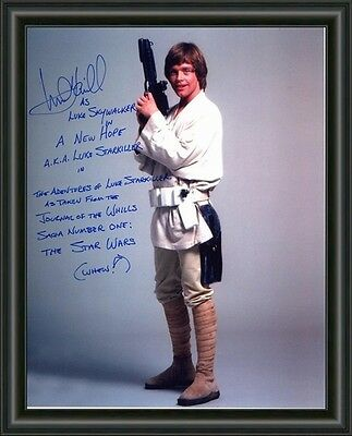 Star Wars - Mark Hamill - A4 SIGNED AUTOGRAPHED PHOTO POSTER  FREE POST
