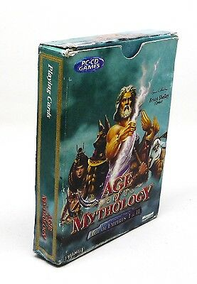 Age of Mythology Playing Card Fun Play Relax Air Travel Hobby Indoor Recreation