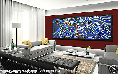 art painting Large Abstract snake sea ocean By Jane COA Aboriginal
