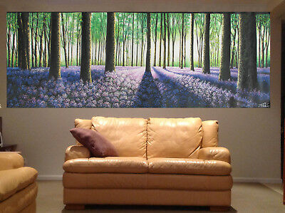 240cm x 80cm art oil  painting  aboriginal  woods forest bush Trees flowers