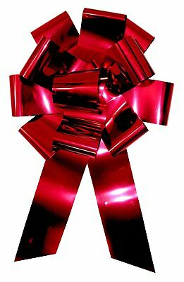 "25"" Wide Giant Metallic Red Car Bow Magnetic Car Lot Decoration Christmas Gift"