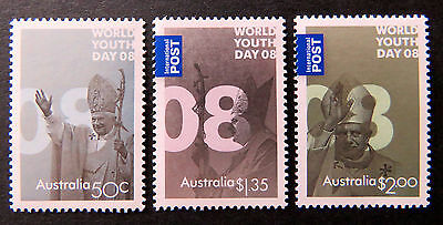 Australian Decimal Stamps: 2008 World Youth Day - Set of 3 MNH