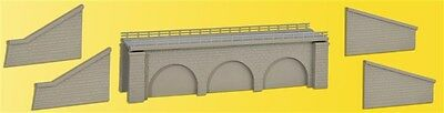 37670 Kibri N + Z Kit of Bricked railway embankment, single track