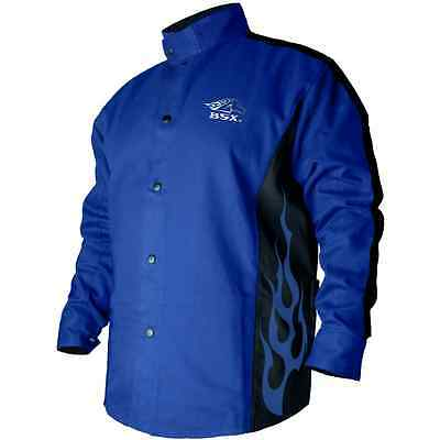 Welding Coat Roy Blue/Black XL Protective Gear Jacket Metalworking Supply Cloth
