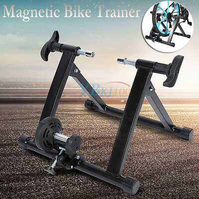 Indoor Magnetic Bicycle Trainer Bike Training Cycling Stand Home Gym Black