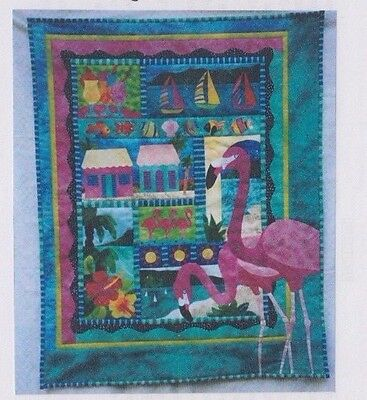 Postcards From Paradise - fun applique & pieced quilt PATTERN - Jennifer Amor