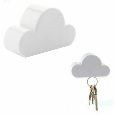 White Cloud Keychain Cloud-Shaped New Magnetic Holder Creative Key Holder