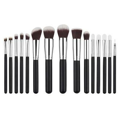 15PCS Pro Cosmetic Makeup Brush Set Foundation Face Powder Eyeshadow Brush Tool