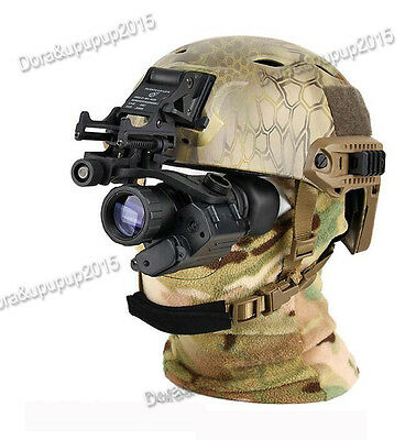 AORUEY Army Helmet With Infrared Hd Night-vision Monocular Telescope IR Digital