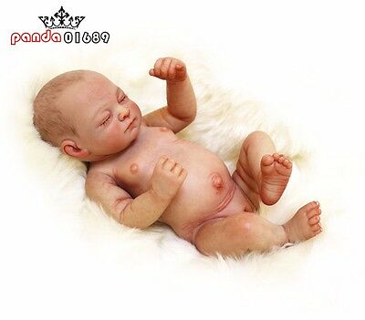 "11"" Lifelike Reborn Dolls Silicone Vinyl real Handmade Sleeping Girl Baby Doll"