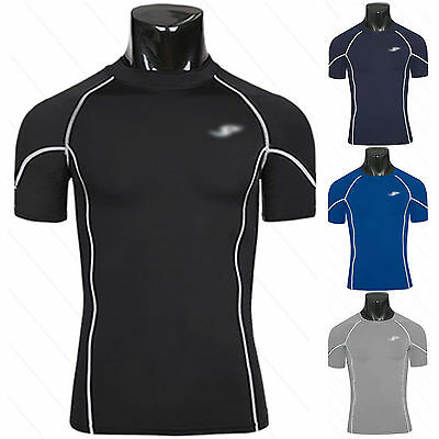 Mens Compression Base Layer Short Sleeve Armour Shirt Skins Tops Tee Gym Jersery