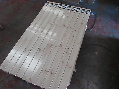 Pine Stop Chamfered Complete Stair Newel Post 90mm x 1500mm
