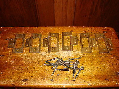 Antique Vintage Door Hinges Acme 6 Sets With Pins