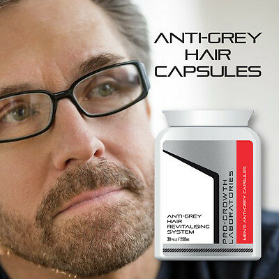 Pro Growth Mens Anti-Grey Pill Hair Revitalising System Anti Grey Hair Capsules