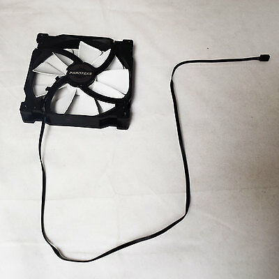 2 Pack of Phanteks PH-F140SP 140mm 3Pin 1200RPM Black White PC Cooling Fan OEM