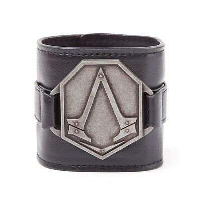 Assassin's Creed Metal Logo PU Wristband - Brand new!