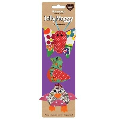 Rosewood Jolly Moggy Patchwork Trio Cat Toy - Brand new!