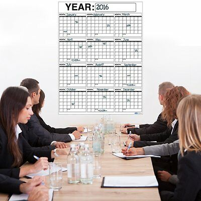 Wet or Dry Erase Plan Wall Calendar Laminated Vertical 12 Month Planner 3x4ft