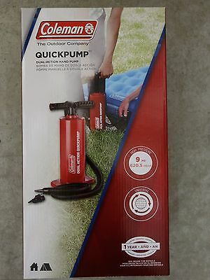 Coleman Quickpump Dual Action Universal Hand Pump for Airbeds, etc - NEW!