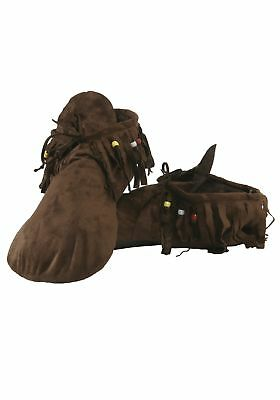 Moccasin Shoes Hippie Indian Native American Adult Mens Costume Accessory