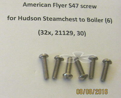 American Flyer Screw S47 Steamchest to Boiler, Hudson Locos (6)