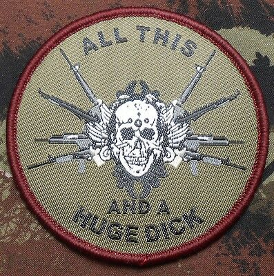 12cccb08db79 All This And A Huge Dick Tactical Military Forest Velcro® Brand Fastener  Patch