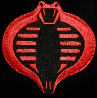 Cobra Gi Joe Usa Army Tactical Us Military Morale Badge Red Black Iron On Patch