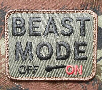 Beast Mode On Morale Tactical Combat Badge Forest Velcro® Brand Fastener Patch