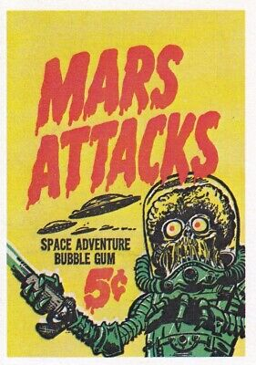 Mars Attacks 1984 Reprint Renata Galasso Factory Card Set Of 55 + 1 Sf Base