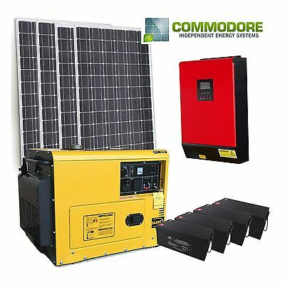 Off Grid Solar Kit | 1500W Solar | 4.8kWh GEL Bank | 5KVA / 4kW Inverter-Charger
