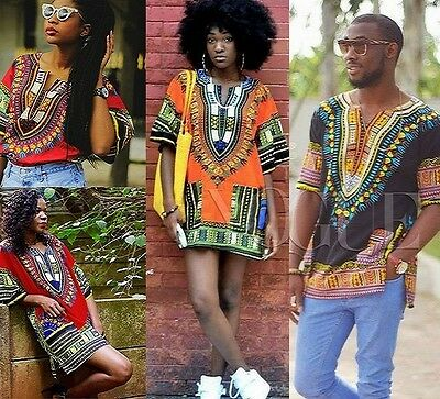 Dashiki Mens African Top Hippie Shirt WomensTriditional Haute Tribal Top Blouse