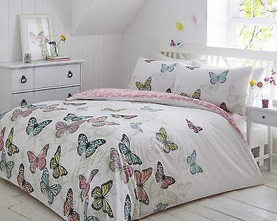 Pieridae New Butterflies Complete 4 Piece Duvet Fitted Sheet Pillowcase Bed Set