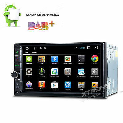Double 2 DIN Android 4.4 Car Stereo Radio Player GPS Navigation WIFI Bluetooth