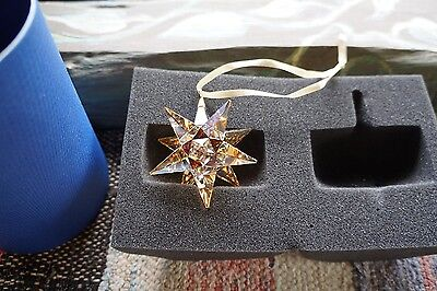 Swarovski Christmas Ornament 3D Gold Star 5064260  Authentic