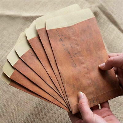 10 Pcs Vintage Brown Paper Envelope Wax Seal Envelope Postcard Package 11 *16 cm