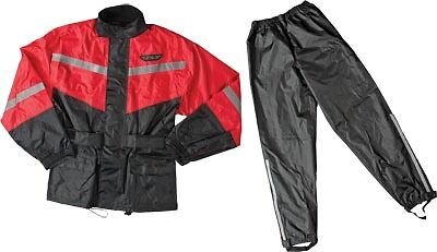 Fly Racing 2 Piece with Rainsuit Relective Accents Red/Black