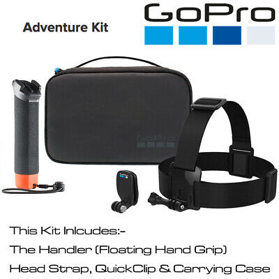 GoPro Adventure Kit Includes The Handler, Head Strap, QuickClip & Carry Case BN