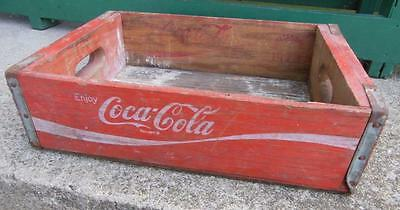 1973 Tn Enjoy Coca-Cola Coke Wooden Soda Crate Carrier Advertising Shelf Display
