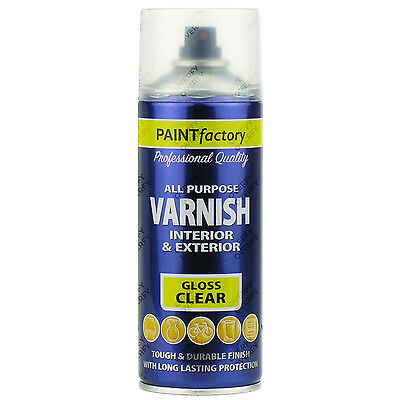 1 x 400ml All Purpose Clear Varnish Gloss Spray Paint Household Indoor/Outdoor