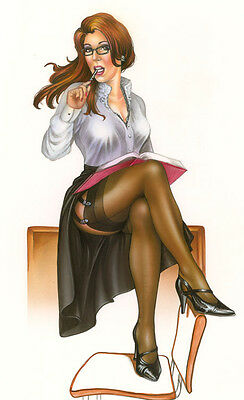 School is in Session - Pin Up Art by Monte M. Moore