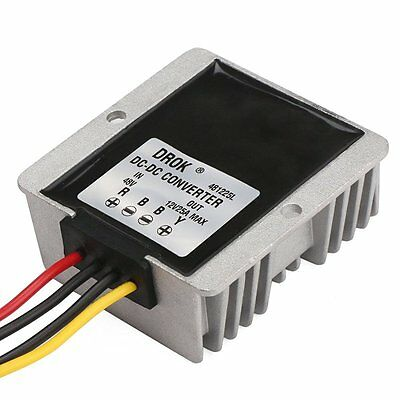 DROK® Waterproof DC-DC Buck Converter 48V to 12V/25A Step-down Volt Regulator C
