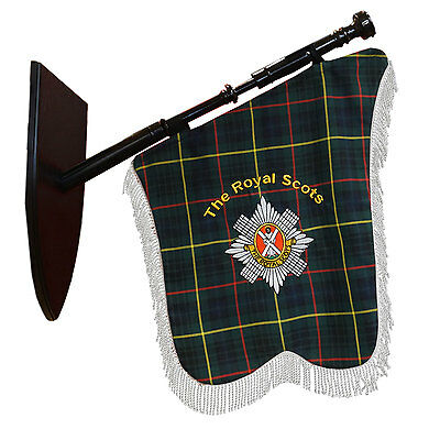 The Royal Scots Regimental Bagpipe Banner, Made in Scotland
