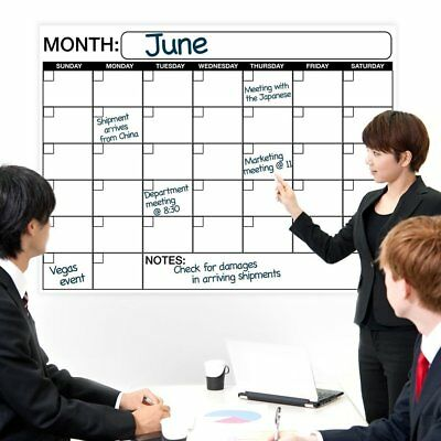 Large Dry or Wet Erase Laminated Monthly Wall Calendar Planner