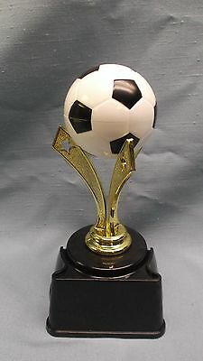 SOCCER ball  mount trophy true color award weighted black base