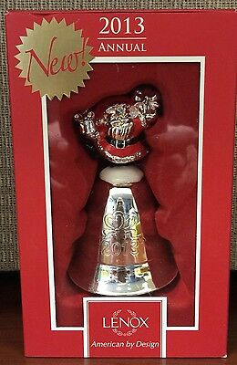 Lenox/Stieff 37th Musical 2013 JOLLY OLD SAINT NICHOLAS Metal Bell Ornament NIB