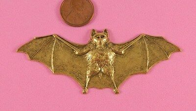 Unique Vintage Antique Brass Large Flying Bat - 1 Pc