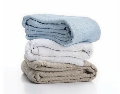Cheshire Cotton Blankets 340GSM Machine Washable Single Queen King Super King