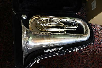 Jupiter Quantum Model 5080S Marching Tuba in SILVER PLATE NICE! QuinnTheEskimo