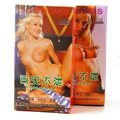 For 10PCS Natural latex rubber Condoms G-points stimulation Made hot